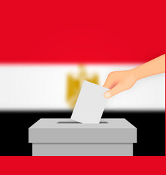 egypt election banner background ballot box vector image