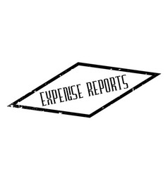 Expense reports rubber stamp vector