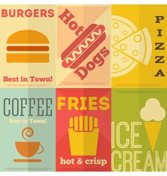 Fast Food Posters vector image