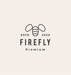 firefly hipster vintage logo icon vector image