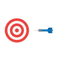 Flat design style concept of bullseye with dart vector