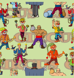 funny cartoon circus artist cheerful joyful vector image