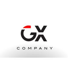 Gx logo letter design vector