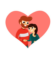 happy lovely couple flat poster vector image