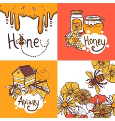 Honey Design Concept vector image