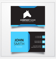 Horse icon for web and mobile business card vector