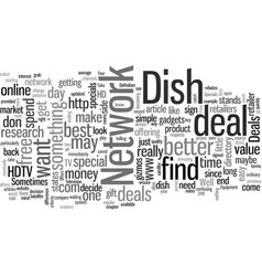 How to find best dish network deals vector