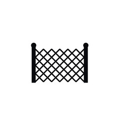 isolated lattice icon gate element can be vector image