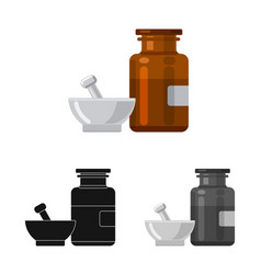 Isolated object of pharmacy and hospital logo set vector