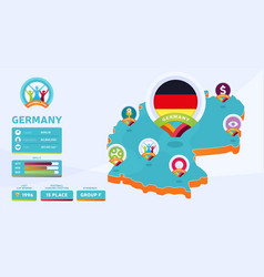 isometric map germany country football 2020 vector image