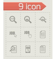 job search icon set vector image
