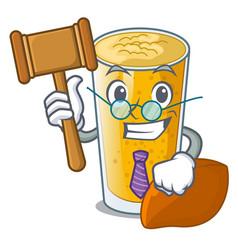 Judge lassi mango in the character fridge vector