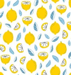Lemons pattern vector