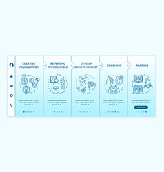 Lifestyle training onboarding template vector