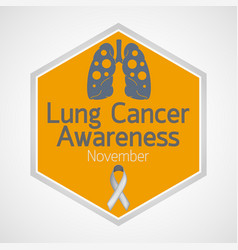 Lung cancer awareness month icon vector