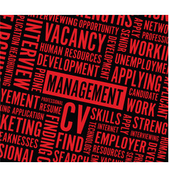 Management text background vector