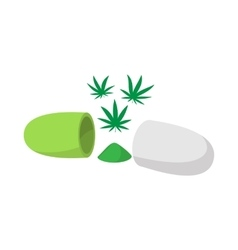 Medical marijuana pill icon isometric 3d style vector