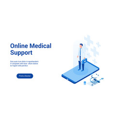 medical support 3d template 2 vector image