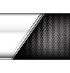 Metallic steel and honeycomb element background vector image