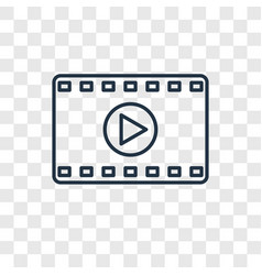 Movie concept linear icon isolated on transparent vector