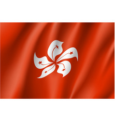 National flag of hong kong vector
