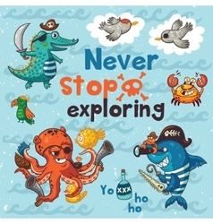 Neve stop exploring Pirate with vector