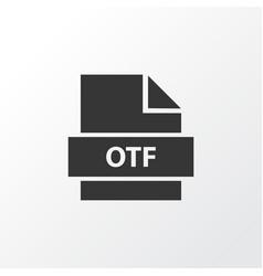 otf icon symbol premium quality isolated folio vector image