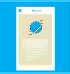 planet mobile vertical banner design design vector image
