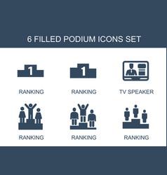 Podium icons vector