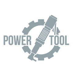 Power tool factory logo simple gray style vector