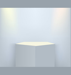 product presentation podium stage empty white vector image