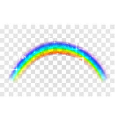 realistic rainbow abstract colorful rainbow vector image