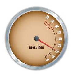 Retro tachometer vector