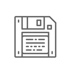 Save diskette floppy disc line icon vector