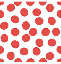 seamless geometric pattern red hole on white vector image
