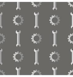 Set of Metallic Wrench Grey Seamless Pattern vector image
