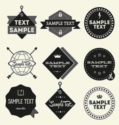 Set of vintage styled design Hipster logo vector image
