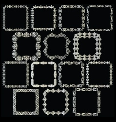 Silver square frames vector
