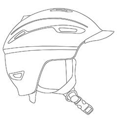 Snowboarding helmet vector