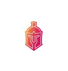 Spartan helmet logo icon vector