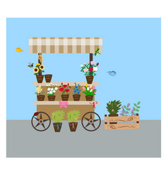 street flower shop vector image