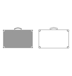 suitcase it is black icon vector image