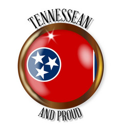 Tennessee proud flag button vector
