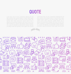 Testimonials and quote concept vector