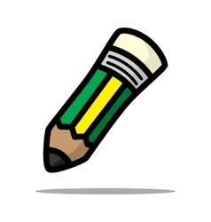 The green yellow pencil vector image