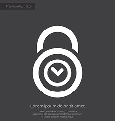 time lock premium icon white on dark background vector image