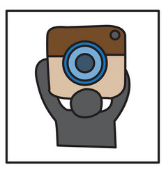 unusual look web icon of modern lineart camera vector image
