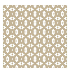 Vintage pattern with white decorations on beige vector