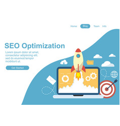 web design for seo teamwork and business strategy vector image