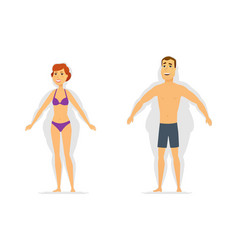 weight loss - modern cartoon people characters vector image